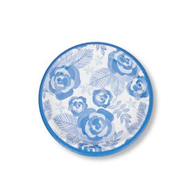 "Cool Blue Floral 9"" Paper Plates 40-Count view 1"