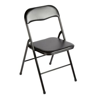 Padded Folding Chrome Metal Chair