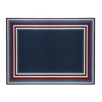 Red/White/Blue Border All-Weather Area Rug