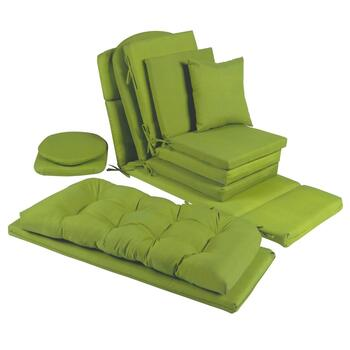 Solid Green Indoor/Outdoor Chair Pads Collection