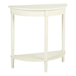 Cream Crescent-Shaped Console Table
