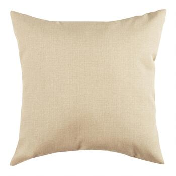Solid Beige Indoor/Outdoor Square Throw Pillow