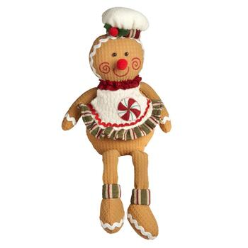 Dangling Legs Gingerbread Sitter with Apron