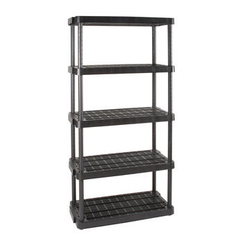 Adjustable 5-Tier Ventilated Shelving Unit view 1