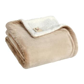 Warm Solid Sherpa Throw Blanket