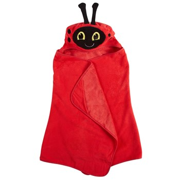 Children's Ladybug Hooded Towel