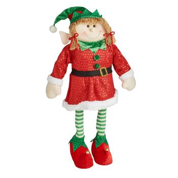 "30"" Fabric Girl Elf Decor"
