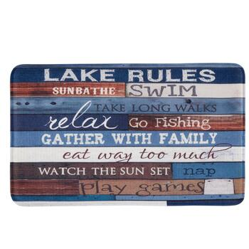 """Lake Rules"" Cushioned Floor Mat"