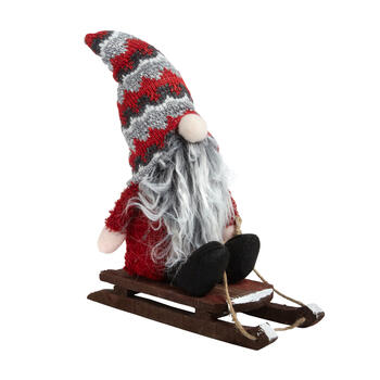 "12"" Plush Gnome on Sled view 1"