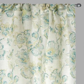 "84"" Floral Bianca Window Curtains, Set of 2"