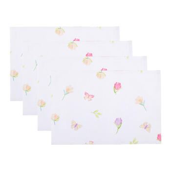 Spring Flowers Fabric Placemats, Set of 4 view 1