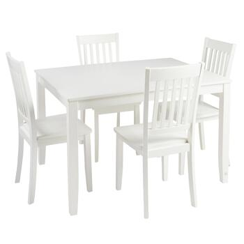 Ivory Dining Table and Chairs Set, 5-Piece