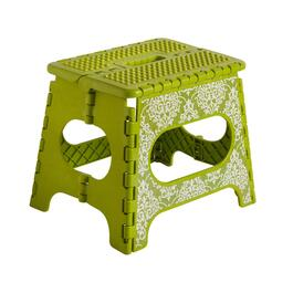 Green Scroll Folding Step Stool