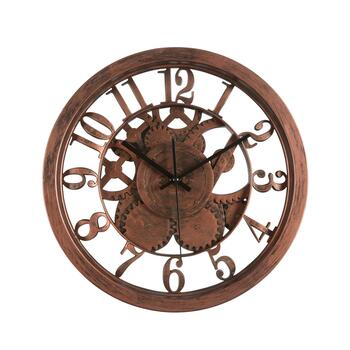 "14"" Gears Open Dial Round Wall Clock"