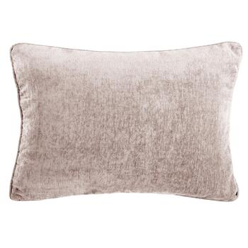 Solid Chenille Feather-Fill Oblong Throw Pillow