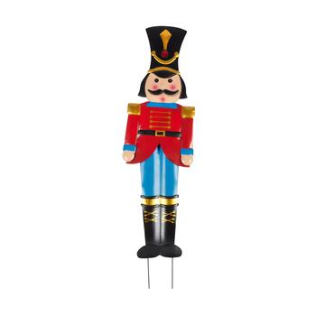 "48"" Metal Soldier Nutcracker Yard Stake"