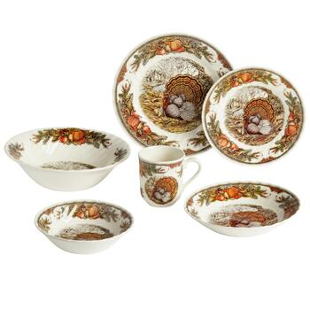 Harvest Turkey Ceramic Dinnerware Collection