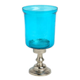 "11"" Glass Shade Pillar Candle Holder view 1"