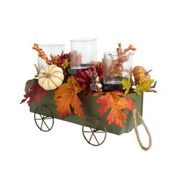 Green Wagon Harvest Bouquet 3-Cup Candle Holder view 1