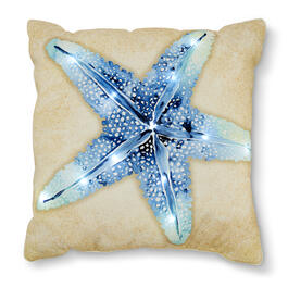 "Starfish 18"" x 18"" LED Throw Pillow view 1"