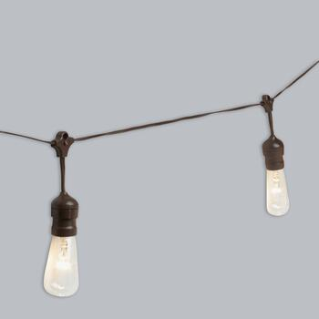 30' Edison-Style Industrial Indoor/Outdoor String Lights