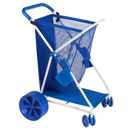 Blue Deluxe Beach Cart