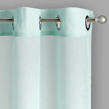 Solid Sheer Textured Grommet Window Curtains, Set of 2