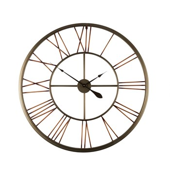 "37.25"" Open Face Round Bronze Wall Clock"