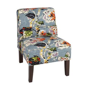 Allora Floral Upholstered Accent Chair with Pillow