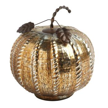 "8"" Metallic Glass Pumpkin"