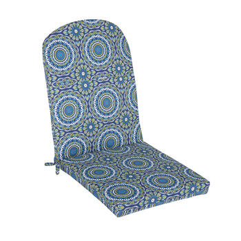 Blue Medallion Indoor/Outdoor Adirondack Chair Pad view 1