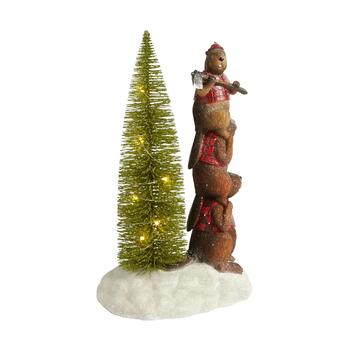 "11.5"" Beaver Stack Lighted Tree Decor"