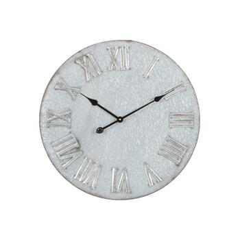 "24"" Metal Embossed Digits Wall Clock"