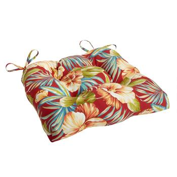Red Tropical Indoor/Outdoor Single-U Seat Pad