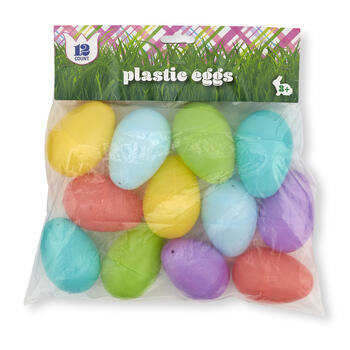 55MM Pastel Plastic Easter Eggs, 12-Count view 1