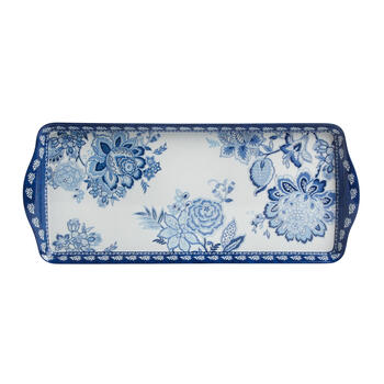 Waverly® Blue/White Floral Melamine Serving Trays, Set of 2 view 2