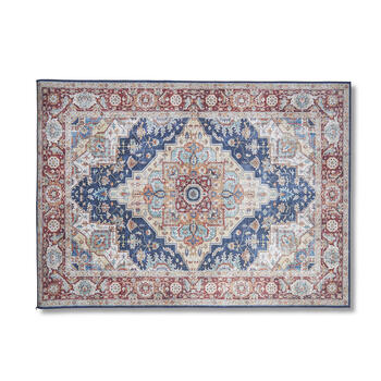 Blue/Red Border Print 5' x 7' Area Rug view 1