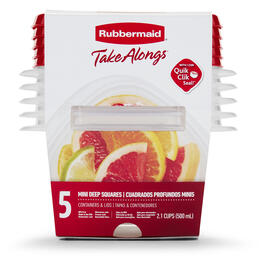 Rubbermaid® TakeAlongs® 5-Count Mini Deep Square Food Containers with Lids view 1