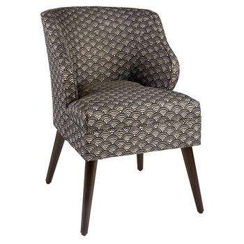 Graph Gray Mid-Century Accent Chair