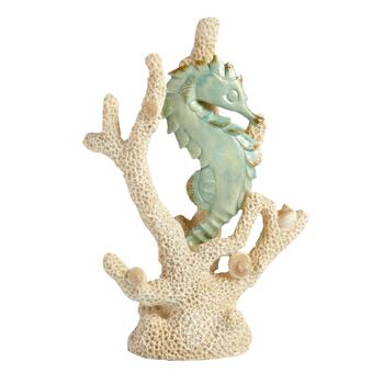 "13.5"" Coral Reef and Seahorse Standing Decor"