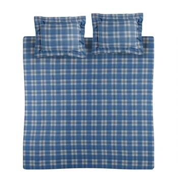 Sunbeam® Plaid Print Flannel Duvet Set