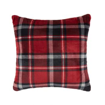 Warm Printed Sherpa Square Throw Pillow