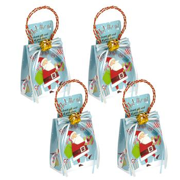"""Ho! Ho! Ho!"" Musical Gift Card Holders, Set of 4"