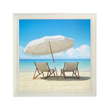 "24"" Beach Chair Scene Wall Decor"