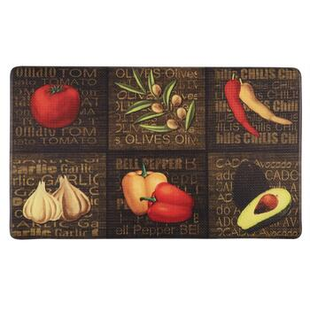 "18""x30"" Olive/Pepper/Garlic Cushioned Floor Mat"