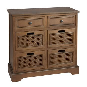 4-Basket/2-Drawer Drake Storage Cabinet
