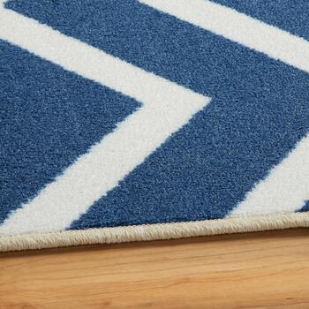 8'x10' Mohawk Blue Chevron Printed Area Rug view 2