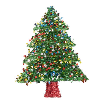 Tinsel Christmas Tree.22 Colorful Dots Tinsel Christmas Tree Hanger