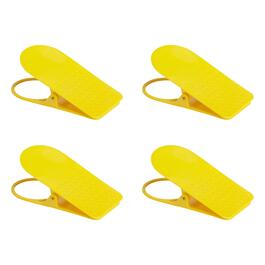 Yellow Portable Cup Clips, Set of 4