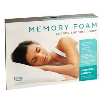 Memory Foam Quilted Cooling Support Pillow view 2